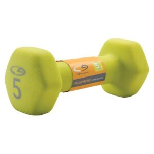 C9 Neoprene Hand Weight Basic Hex 5lb Hot Rod Lime