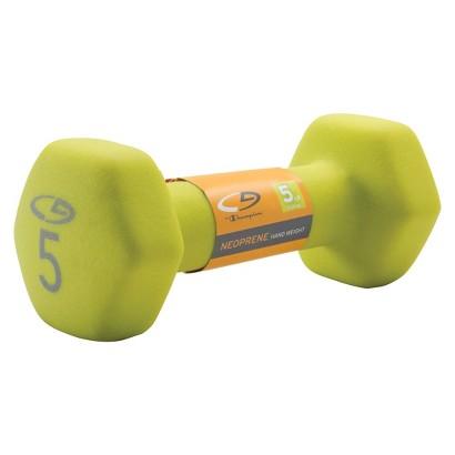 C9 Neoprene Hand Weight Basic Hex 5lb Hot Rod Lime
