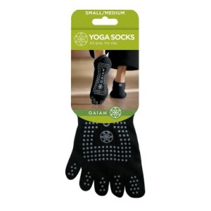 Gaiam Black All-Grip No-Slip Yoga Socks