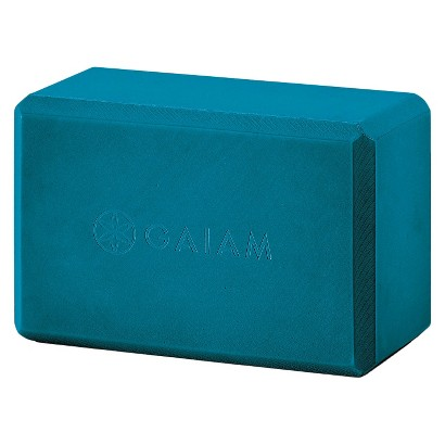Gaiam Yoga Block Teal Blue