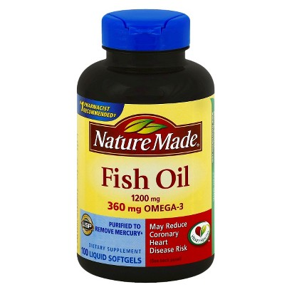 Nature made fish oil 1200 360 mg omega 3 softgels fittnik for Nature made fish oil